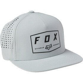 Fox Badge Snapback Cap Herren grau